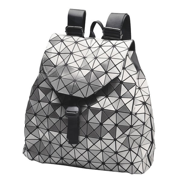 Shop Mad Style Women s Metallic Backpack Purse - Geometric Pattern Fashion  Bag - One size - Free Shipping On Orders Over  45 - Overstock - 20812912 f367c164d0b95