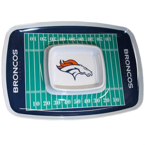 Siskiyou Sports Denver Broncos Chip And Dip Tray Chip and Dip Tray