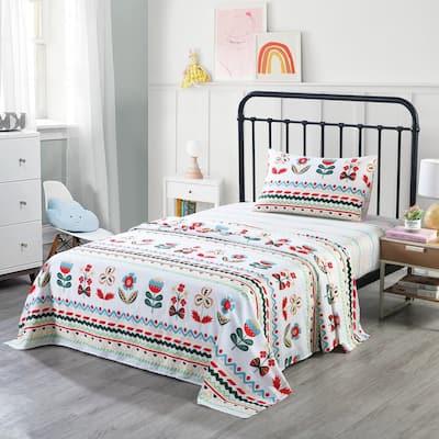 Kids Cotton Sheet Twin/Full Sheet Kids Girls Bed Sheet For Kids, SH019