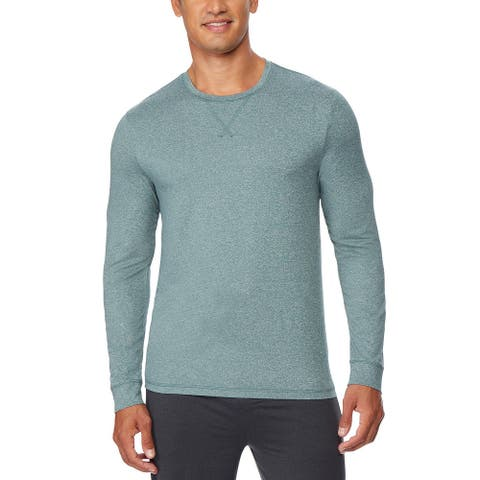 32 Degrees Men's Ultra Lux Long-Sleeve Sleep T-Shirt Green Size Extra Large