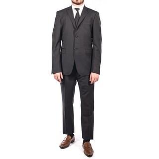 Pierre Balmain Wool Two Button Suit Black Dark Grey