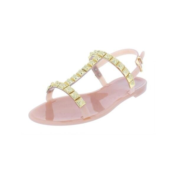 562b4263735b Shop Stuart Weitzman Womens Jelrose Flat Sandals Embellished T-Strap ...