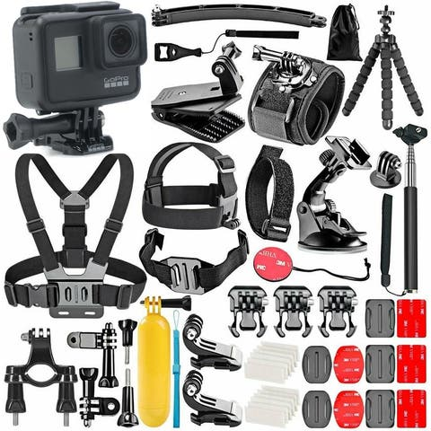 GoPro Hero 7 Black with 50 Piece Action Accessory Kit