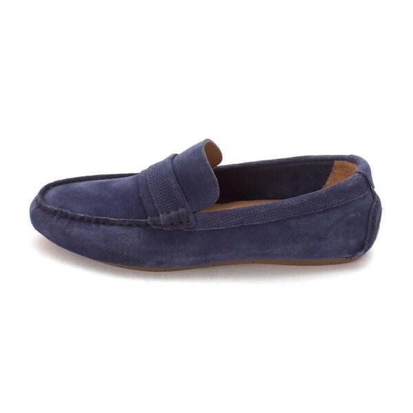 Cole Haan Mens Stanleighsam Suede Closed Toe Slip On Shoes