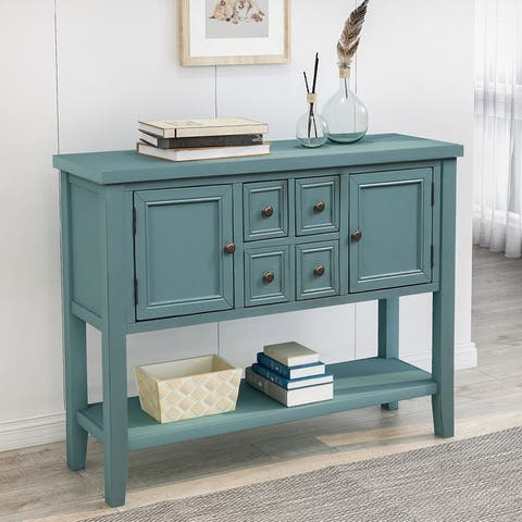 TiramisuBest Buffet Sideboard Console Table with Bottom Shelf