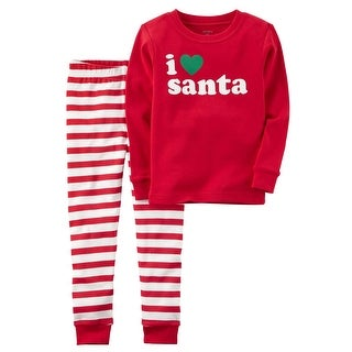 Carter's Baby Boys' 2-Piece Santa Snug Fit Cotton PJs, 18 Months - Red