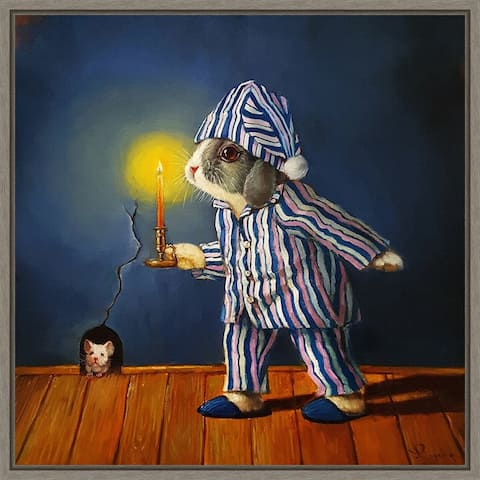 The Night Before Christmas (Mouse) by Lucia Heffernan Framed Canvas