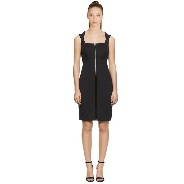 Calvin Klein Zip Front Sleeveless Sheath Dress - 10