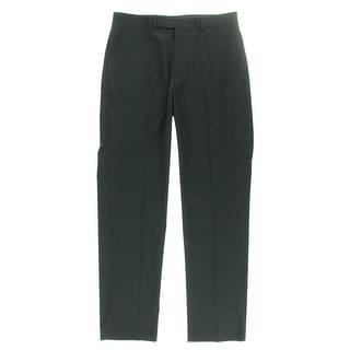 Calvin Klein Mens Dress Pants Checkered Slim Fit