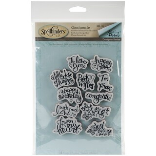 Spellbinders Stamps By Tammy Tutterow-Tiny Sentiments
