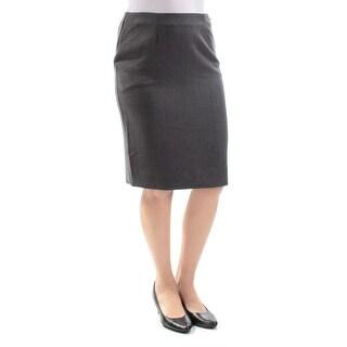 CHARTER CLUB $44 Womens New 3366 Gray Knee Length Pencil Skirt 4 Petites B+B