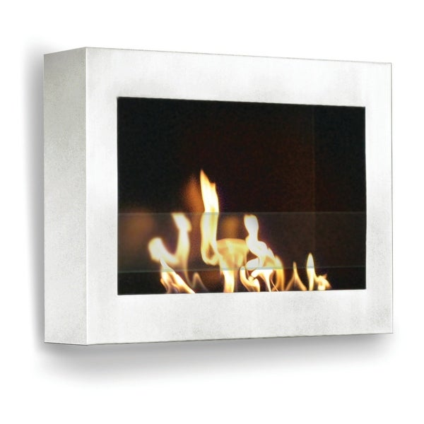 SoHo (White High Gloss) Wall Mount Bio Ethanol Ventless Fireplace