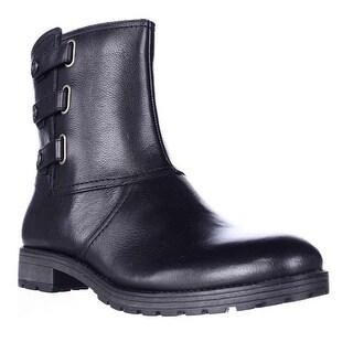 naturalizer Tynner Triple Side Strap Boots - Black