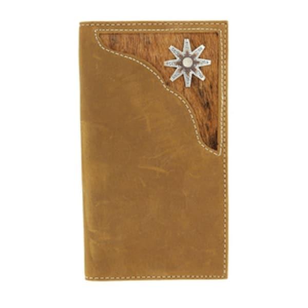Nocona Western Wallet Mens Rodeo Spur Rowel Hair Brown - One size