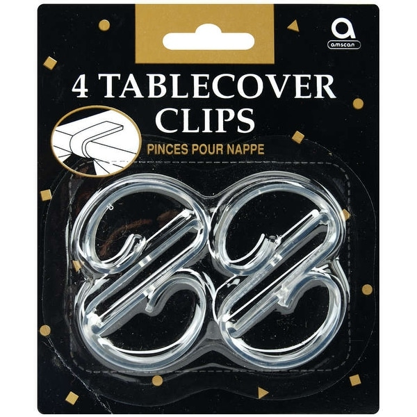 Tablecover Clips 4/Pkg-Clear Plastic - Clear