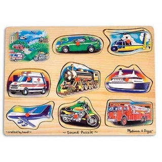 Melissa & Doug 725 Vehicles Sound Puzzle