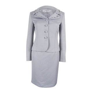 Tahari ASL Women's Embellished Skirt Suit