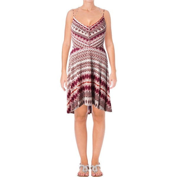 Jessica Simpson Womens Sundress Printed Hi-Low - XS