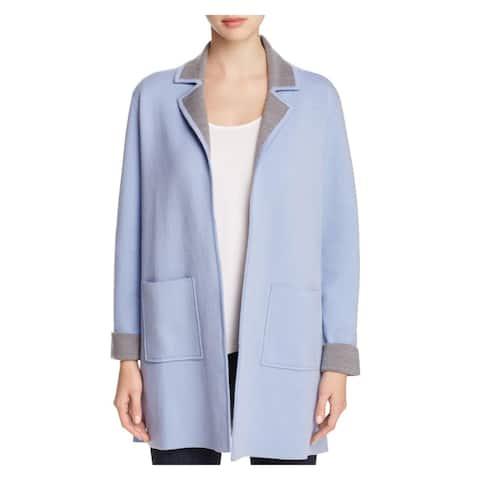 Finity Womens Jacket Knit Colorblock - Powder Blue