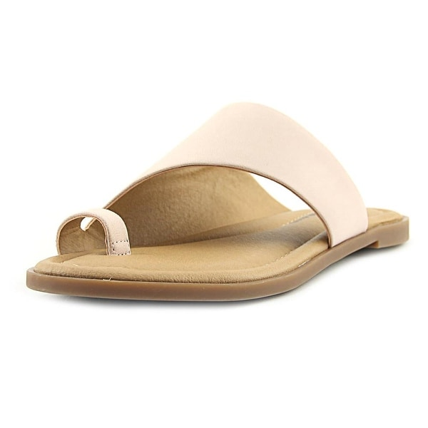 Lucky Brand Anora Women Open Toe Leather Pink Slides Sandal