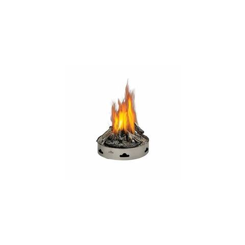 "Napoleon GPFP-2 Patioflame 60000 BTU 20"" Diameter Liquid Propane Outdoor Fireplace with PHAZER Logs - Stainless Steel"