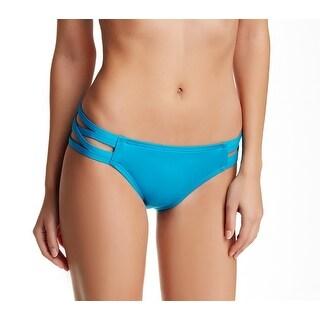 Carmen Marc Valvo Blue Womens Size Large L Strappy Bikini Bottom