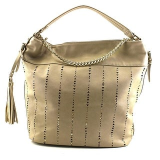Dolce Girl Metallic Perforated Hobo Convertible Women Gray Hobo