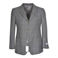 Armani Collezioni Mens Wool Plaid Sportcoat 46 Regular 46R Grey Sport Coat