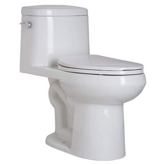 Mirabelle MIRSR241 Sarasota 1.28 GPF One-Piece Elongated Comfort Height Toilet - - White
