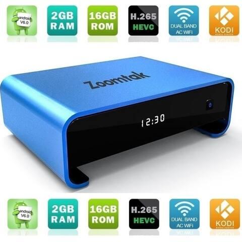 Zoomtak Uplus Loaded 2G/16G Android TV box Media Streaming Player HD 4K x 2K