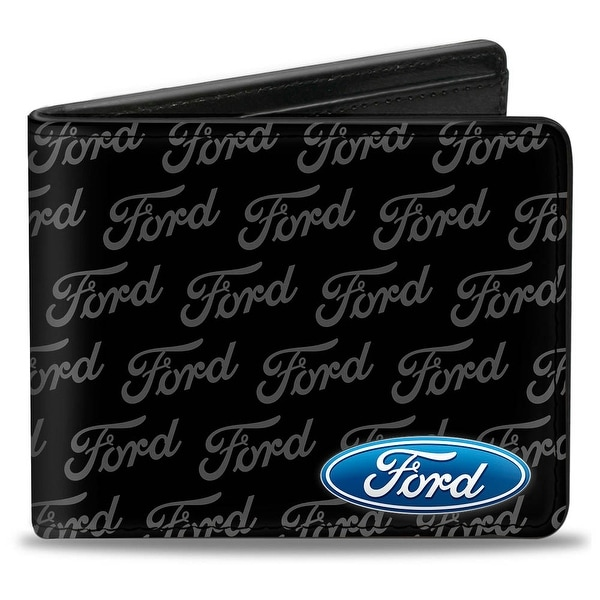 Ford Oval Corner W Text Bi Fold Wallet - One Size Fits most