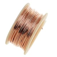 Artistic Wire, Silver Plated Craft Wire 28 Gauge Thick, 15 Yard Spool, Rose Gold Color