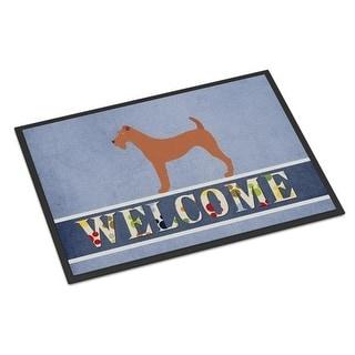 Carolines Treasures BB8276JMAT Irish Terrier Welcome Indoor or Outdoor Mat - 24 x 36 in.