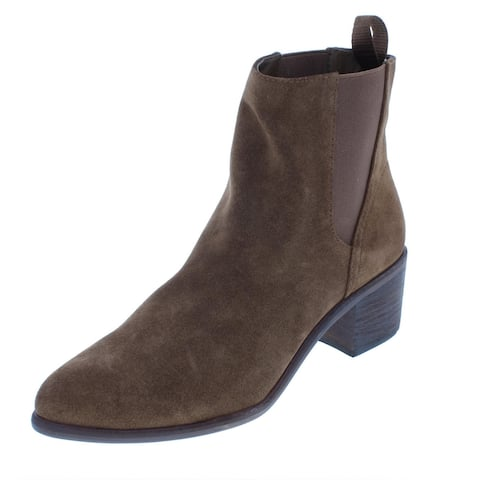 Dolce Vita Colbey Women's Pull On Ankle Bootie Almond Toe Chelsea Boots