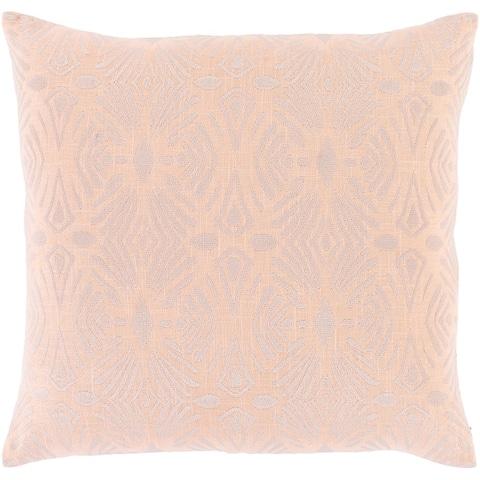 Akilah Art Deco Embroidered Throw Pillow