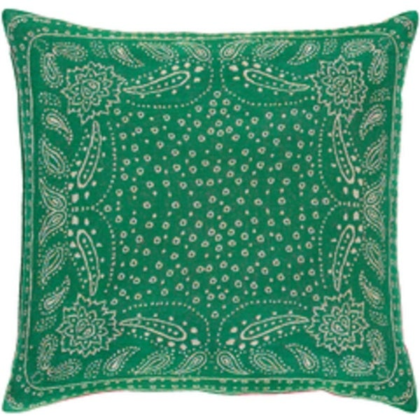 "20"" Holly Green and Cool Gray Mediterranean Medallion Decorative Throw Pillow"