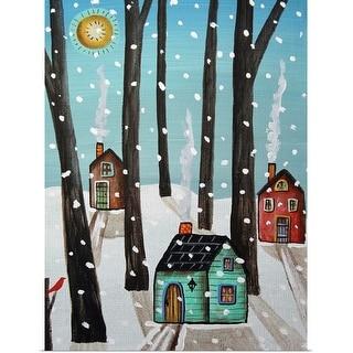 """Heavy Snow"" Poster Print"