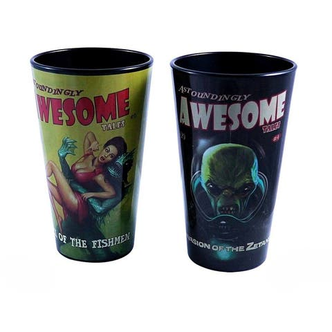 Fallout Awsome Tales 16oz Pint Glass Set - Black