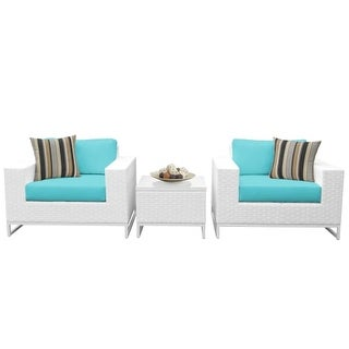 Florida 3-Piece Aluminum Framed Outdoor Conversation Set with Accent Table