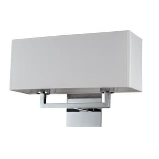Bromi Design B5402C Prescott 2 Light Wall Sconce with White Shade