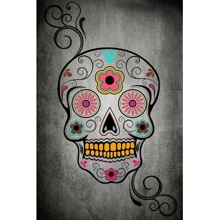 Sugar Skull - Lantern Press Artwork (Cotton/Polyester Chef's Apron)