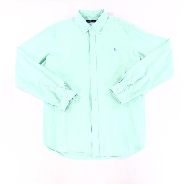 87e9691d96 Shop Ralph Lauren Blue Mens Size 2XL Long Sleeve Button Down Shirt - Free  Shipping Today - Overstock - 28304812