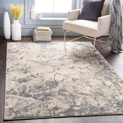 Porter Glam Abstract Area Rug