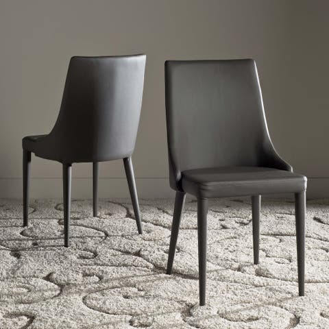 "Safavieh Modern Grey Dining Chairs (Set of 2) - 23.6"" x 19.6"" x 35.5"""