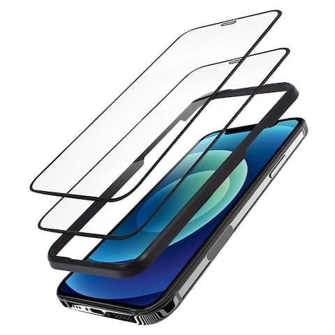 """2-Pack Tempered Glass LCD Screen Protector Film Cover For Apple iPhone 12 Pro Max (6.7"""")"""