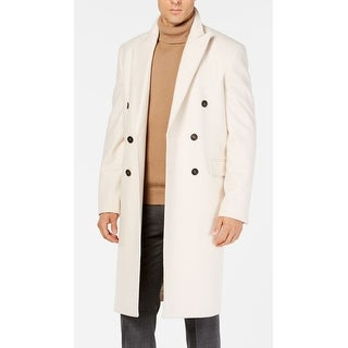Link to Calvin Klein Mens Coat Beige Size 36R Overcoat Wool Double-Breasted Similar Items in Women's Outerwear