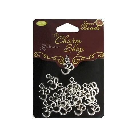 Sweet Beads Charm Shop Mtl Om Symbol Silver 26pc