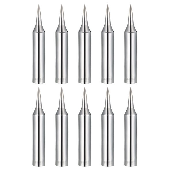 Soldering Iron Tips Replacement for Solder Station Tip 900M-T-SI Silver 10pcs - 900M-T-SI 10pcs