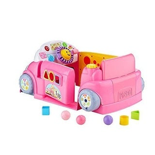 Fisher-Price DJD10 Laugh & Learn Smart Stages Crawl Around Car, BABY CAR, Pink