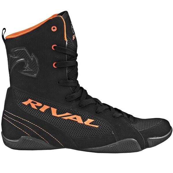 Rival Boxing Hi Top Mesh Paneled RSX ONE V2 Boots BlackOrange